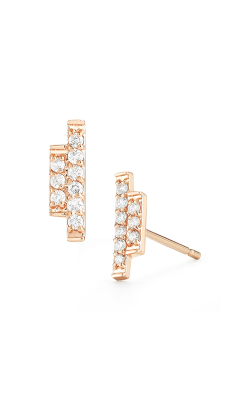 Barbela Design Diamond Sidebar Earrings BE1019-P product image