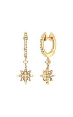 LUVMYJEWELERY North Star Hoop Earrings product image