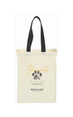 Canvas Tote Bag benefiting BVSPCA product image