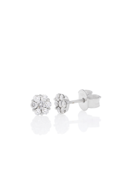 18kt White Gold 1/3ctw Diamond Flower Stud Earrings product image