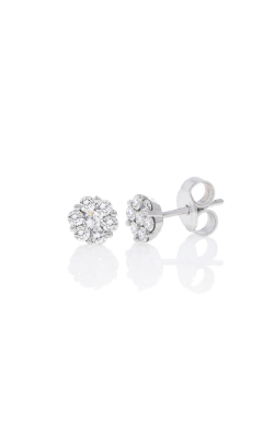 18kt white gold 1/2ctw diamond flower studs product image