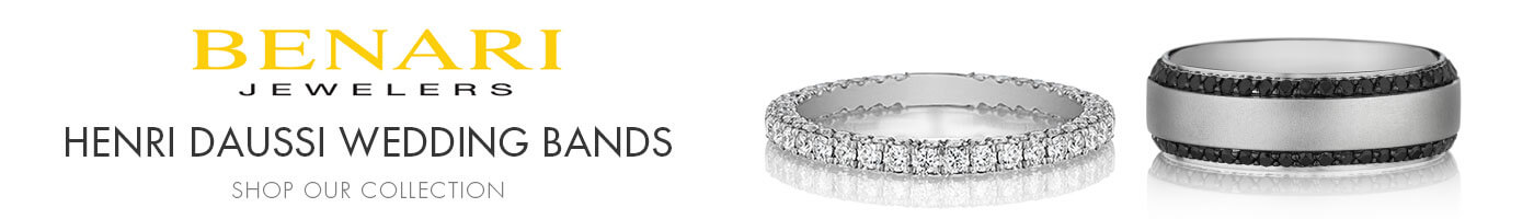 Henri Daussi Wedding Bands at Benari Jewelers