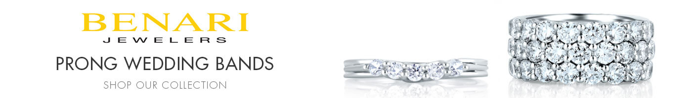 Prong Wedding Bands at Benari Jewelers