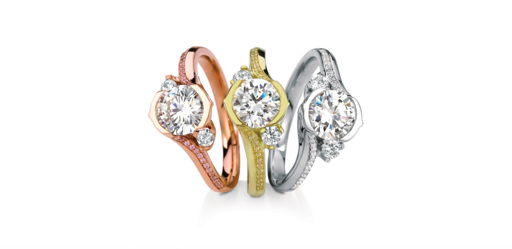 MaeVona Wildflowers Engagement Rings