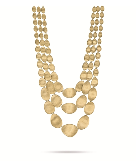 Marco Bicego yellow gold necklace from the Lunaria collection - Available at BENARI JEWELERS