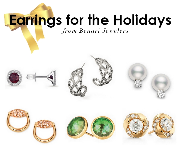 Holiday Outfit Acessories - Earrings available at BENARI JEWELERS
