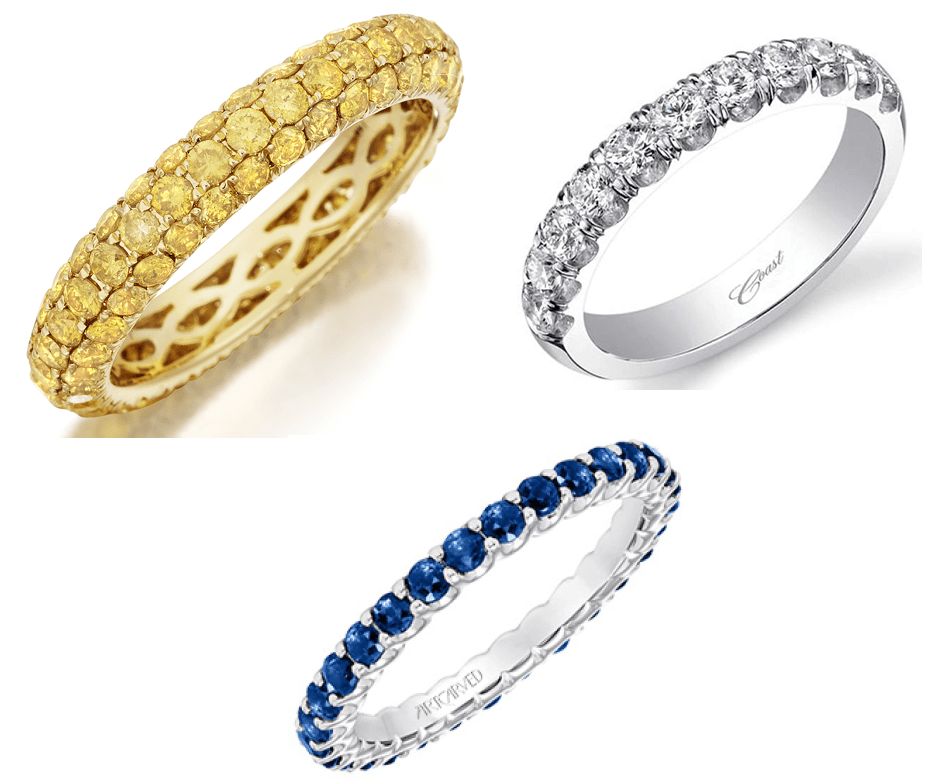 Diamond and Gemstone Wedding Bands