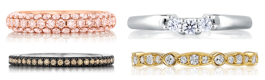 Men's and Women's wedding bands at BENARI Jewelrers