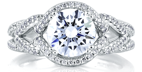 A. Jaffe White Gold Engagement Ring