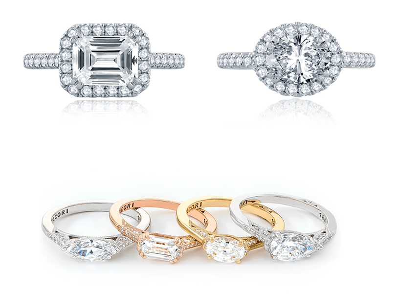 East West Simply Tacori Engagement RIngs